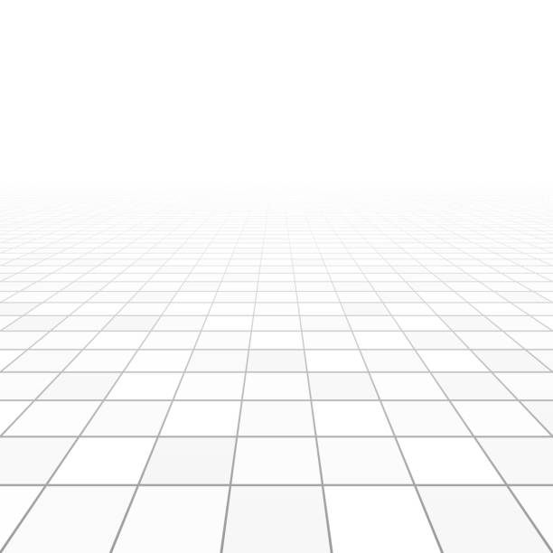 bodenfliesen-perspektive - mosaikböden stock-grafiken, -clipart, -cartoons und -symbole