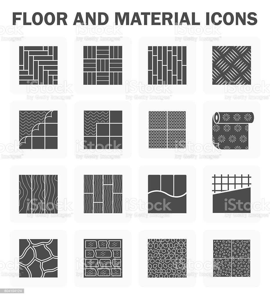 Floor vector icons vector art illustration