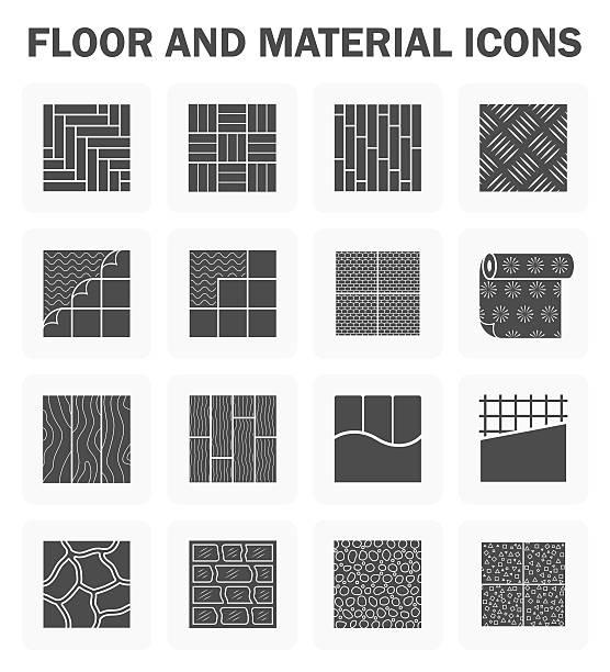 bildbanksillustrationer, clip art samt tecknat material och ikoner med floor vector icons - wood stone