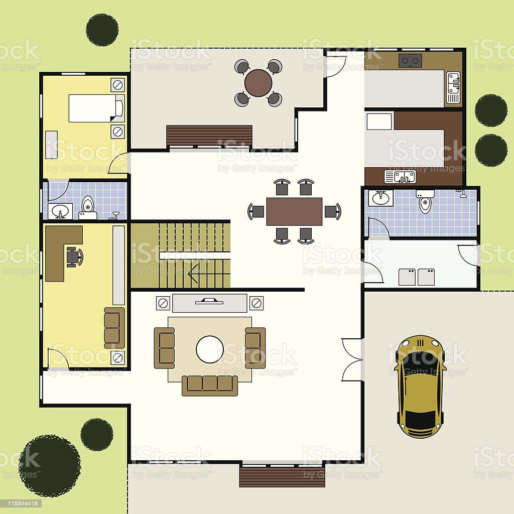 plan maison rez de chaussee Rez-de-chaussée Plan Plan maison la maison du0027Architecture rezdechaussée plan  plan