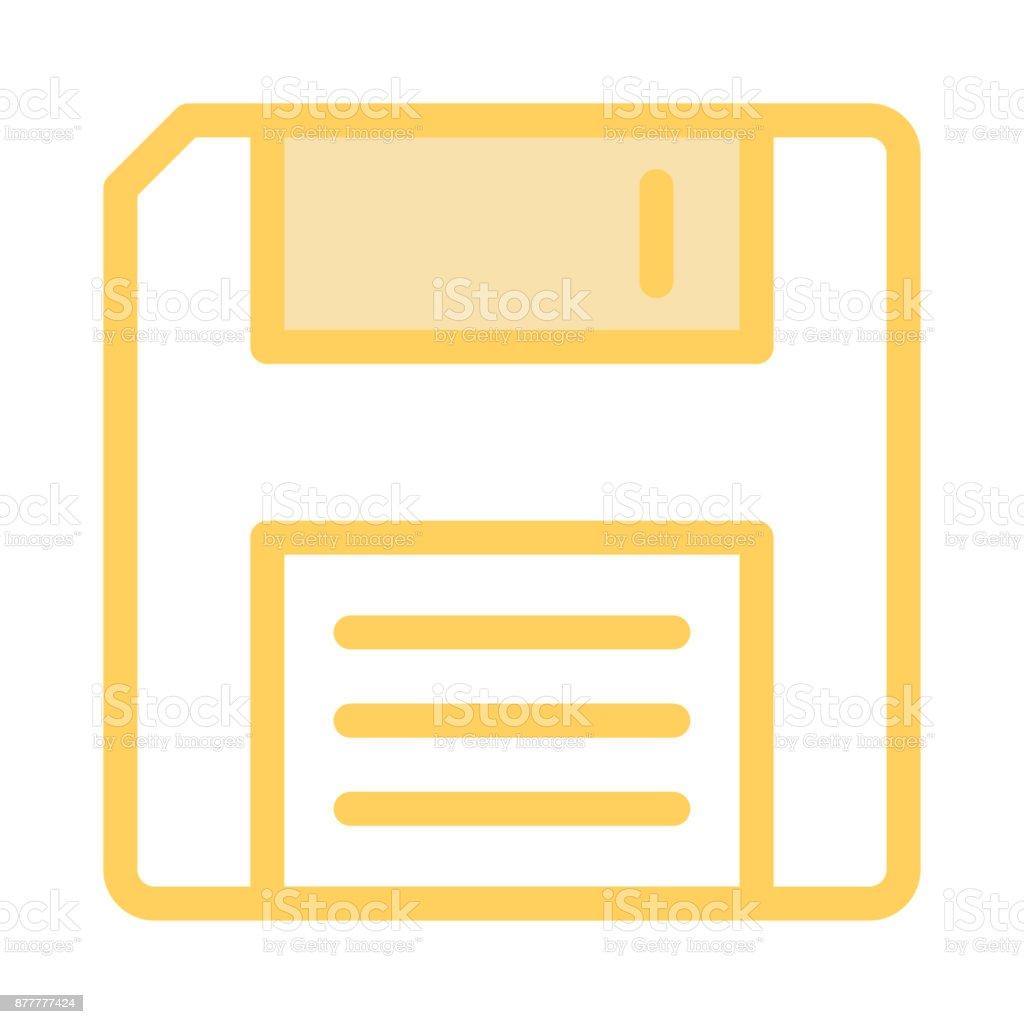 floppy colour Line vector icon