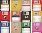 Floppy disc vector illustration