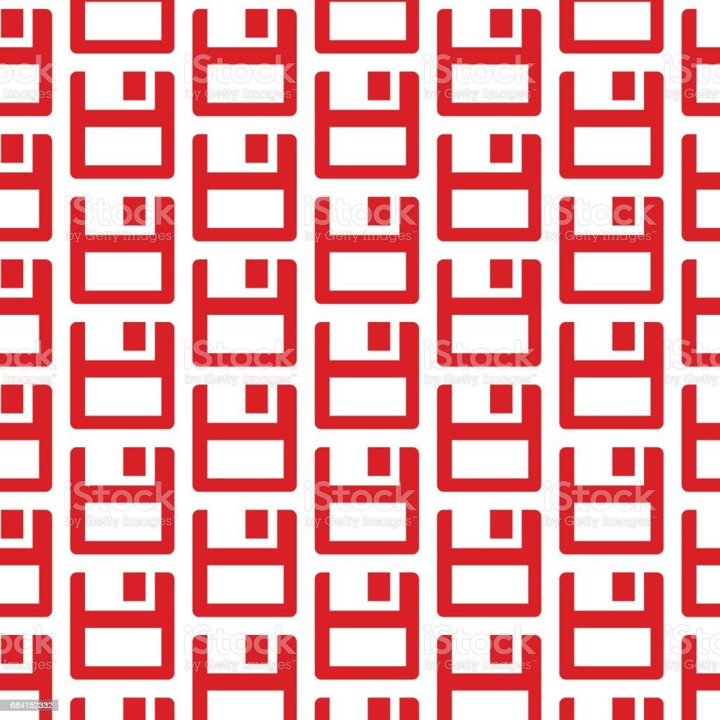 floppy disk icon pattern background floppy disk icon pattern background - immagini vettoriali stock e altre immagini di arredamento royalty-free
