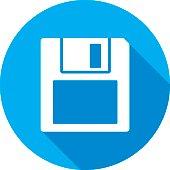 Floppy Disk Icon Silhouette 2
