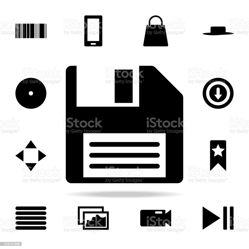 Floppy Disk Icon Web Icons Universal Set For Web And Mobile Stock