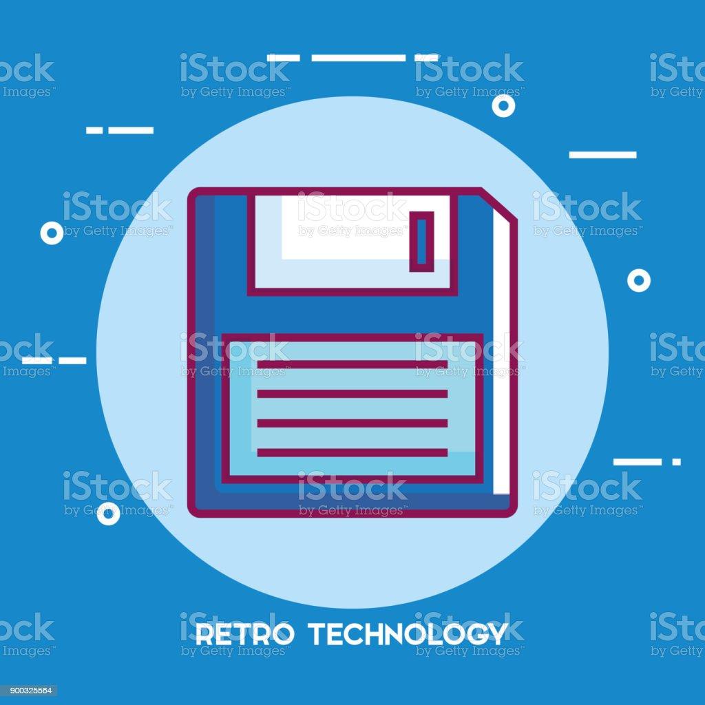 Diskettensymbol Retro-Technologie – Vektorgrafik