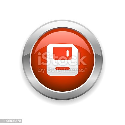 istock Floppy Glossy Icon 1296893675