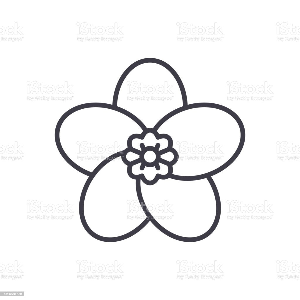 Flora black icon concept. Flora flat  vector symbol, sign, illustration. royalty-free flora black icon concept flora flat vector symbol sign illustration stock vector art & more images of abstract