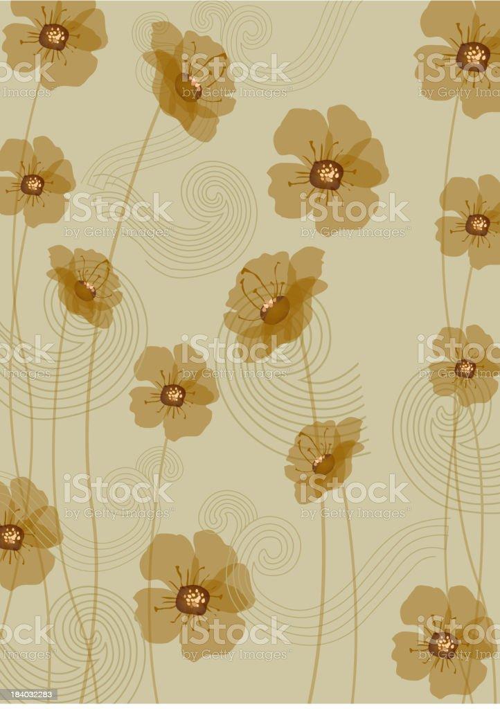 Flora wallpaper royalty-free stock vector art