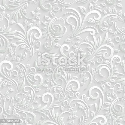 istock Floral 3d Seamless Background 527344053
