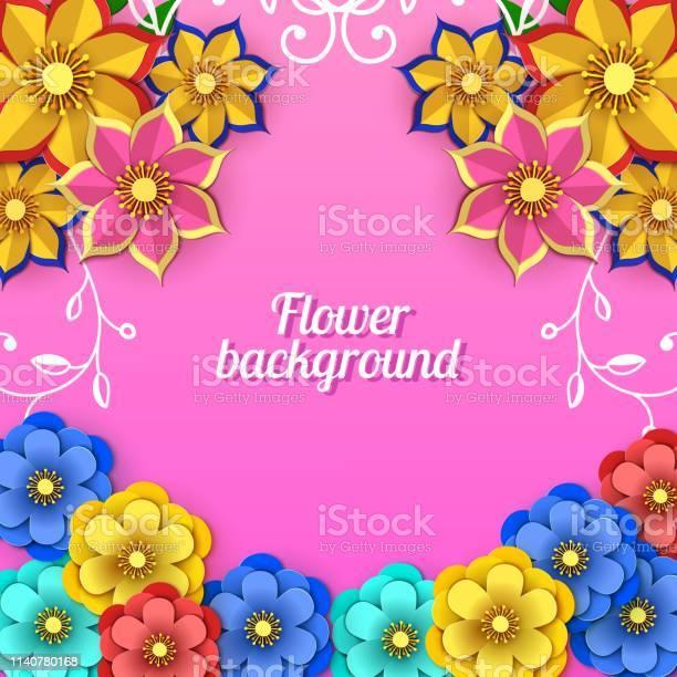 Floral 8 march greeting card happy womens day paper cut flower frame vector id1140780168?b=1&k=6&m=1140780168&s=612x612&h=agggq10vpxqld6mj 5w59ioueypmwrrbemu70acagv8=
