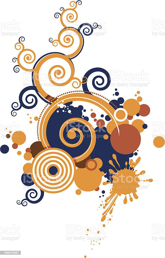 floral abstract design royalty-free stock vector art