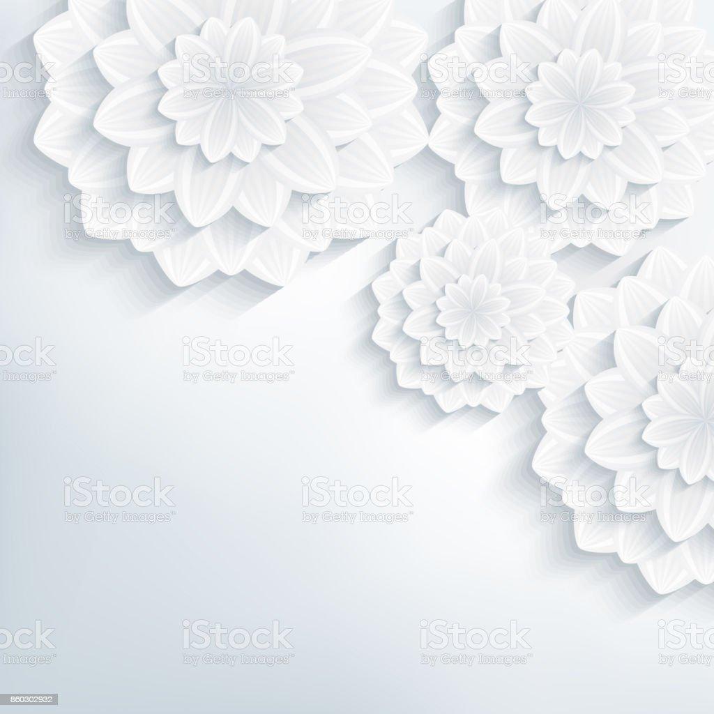 3 D の花を持つ抽象花柄壁紙 3dのベクターアート素材や画像を多数ご用意 Istock