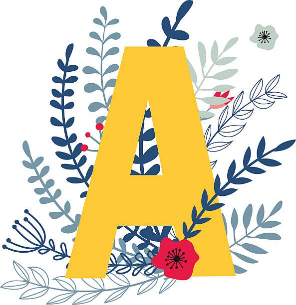 Royalty Free Alphabet Single Flower Flower Letter A Clip ...