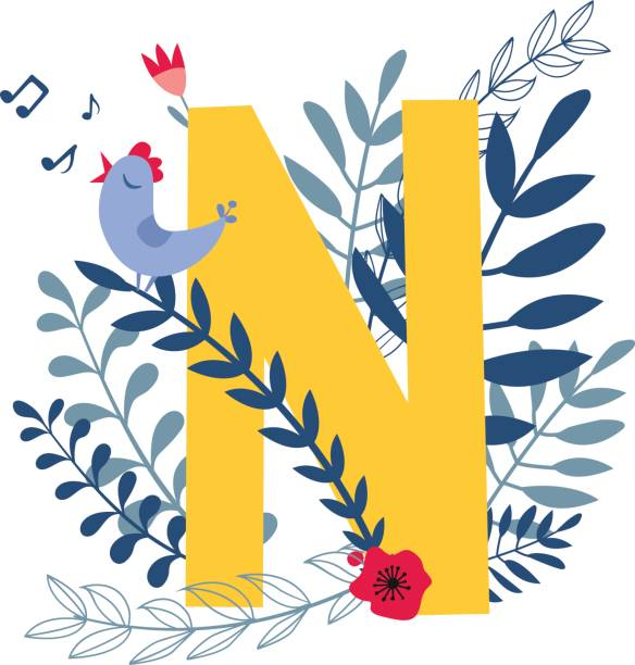 fancy letter n cartoons clip art vector images illustrations