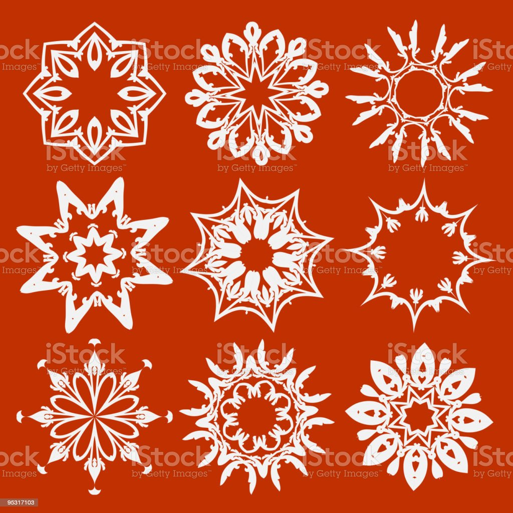 floral and ornamental elements royalty-free stock vector art