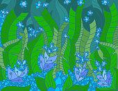 Floral artistically scene