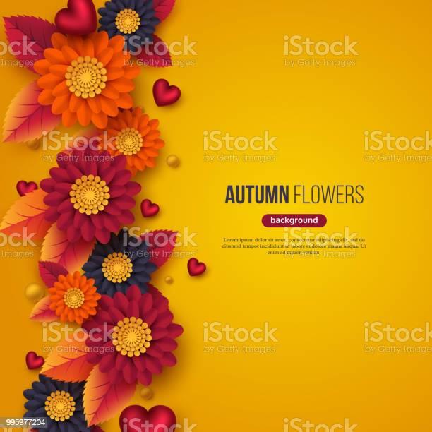 Floral autumn background with 3d paper cut style flowers leaves and vector id995977204?b=1&k=6&m=995977204&s=612x612&h=sr2tl82hcdqqyzynelx 3tcnnipwbu aqc6bipcjd9k=