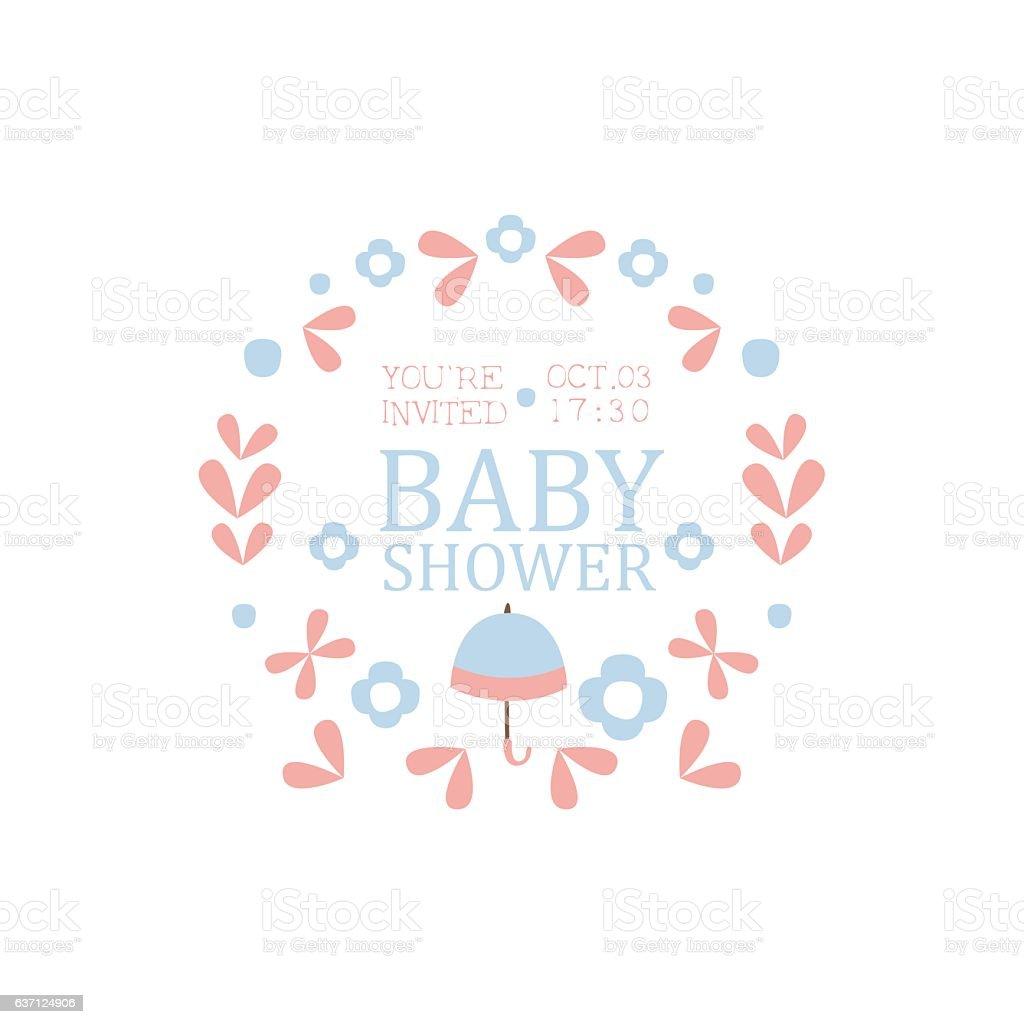 Ilustracion De Floral Baby Shower Invitation Design Template Y Mas