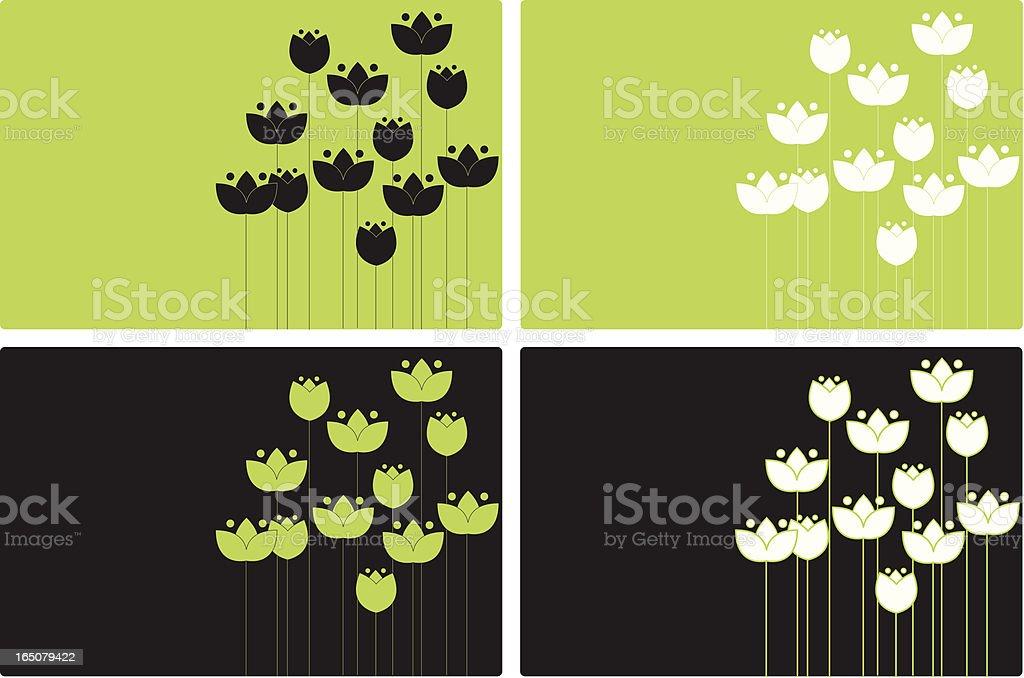 Floral Background 1 vector art illustration
