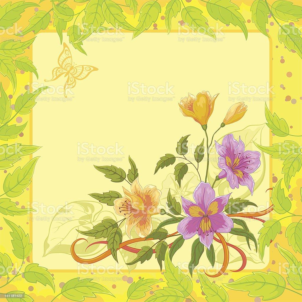 Fondo Floral, alstroemeria - ilustración de arte vectorial