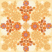 Floral background. Autumn designe.