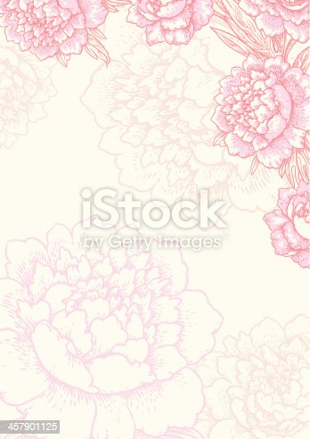 istock Floral background. Card. 457901125