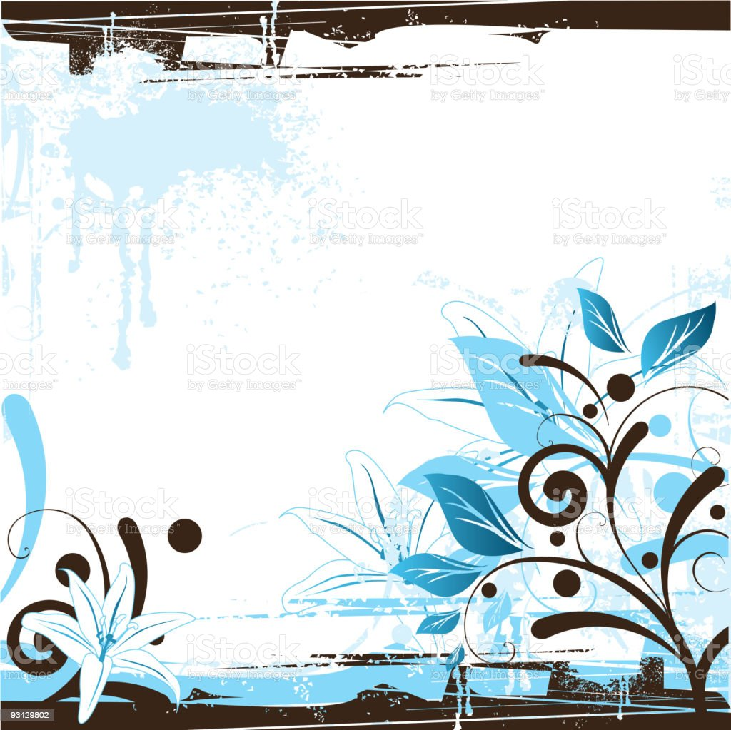 Floral Background Design royalty-free stock vector art