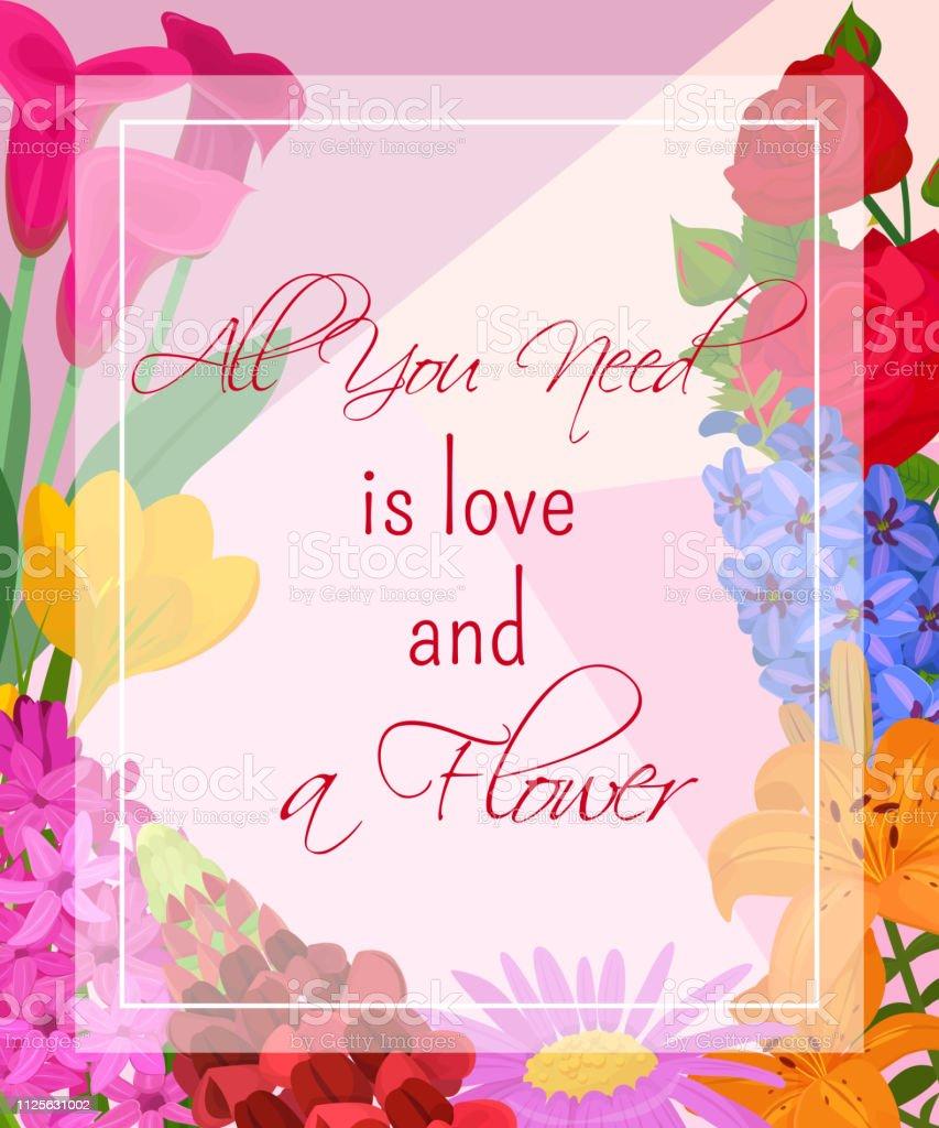 Floral Background For Flower Shops Or Invitation Cards