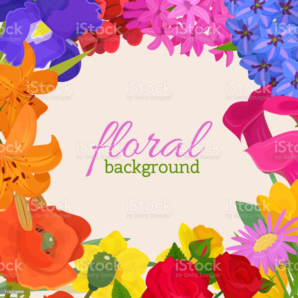 Floral background for flower shops or invitation cards. Beautiful...