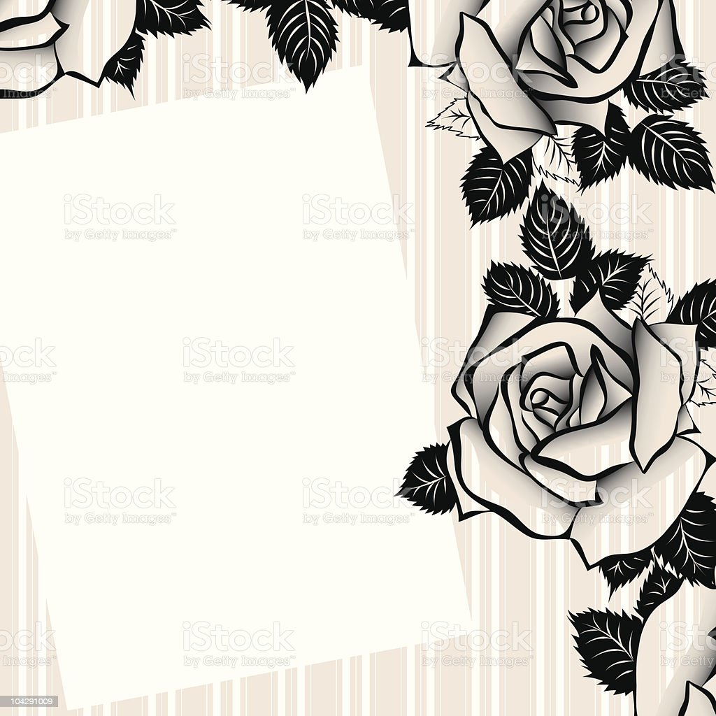 Floral background for text royalty-free stock vector art