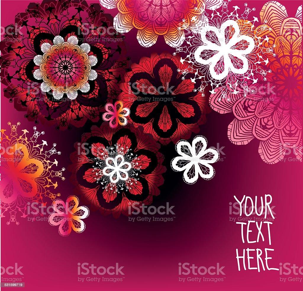Floral Background for Text vector art illustration