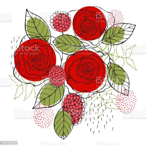 Floral background hand drawn red roses vector id1201613942?b=1&k=6&m=1201613942&s=612x612&h=pos7rubl99yfrvbvajnaa8wxpfgup96mtjqncmh8e9u=
