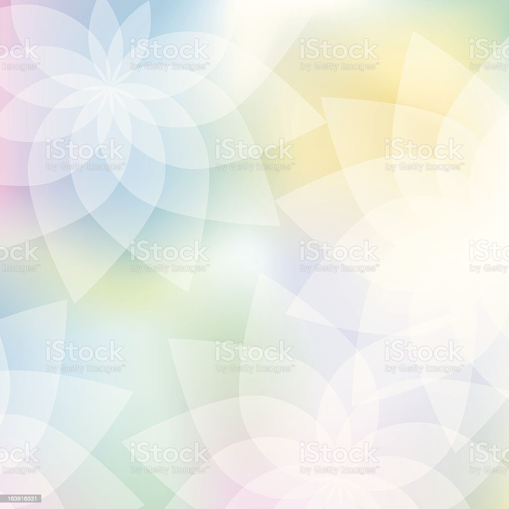 floral background in pastel colors vector art illustration