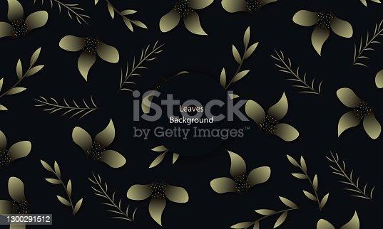istock Floral background. Leaves Vector leaf. stock illustration 1300291512