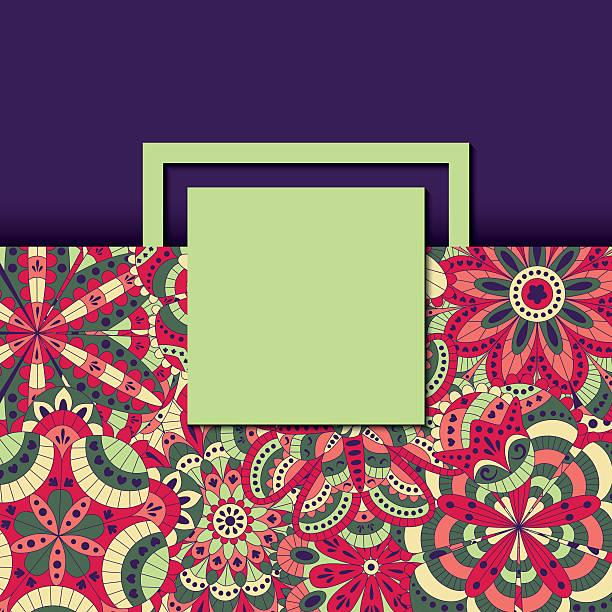 floral hintergrund gemacht aus vielen mandalas - zigeunerleben stock-grafiken, -clipart, -cartoons und -symbole