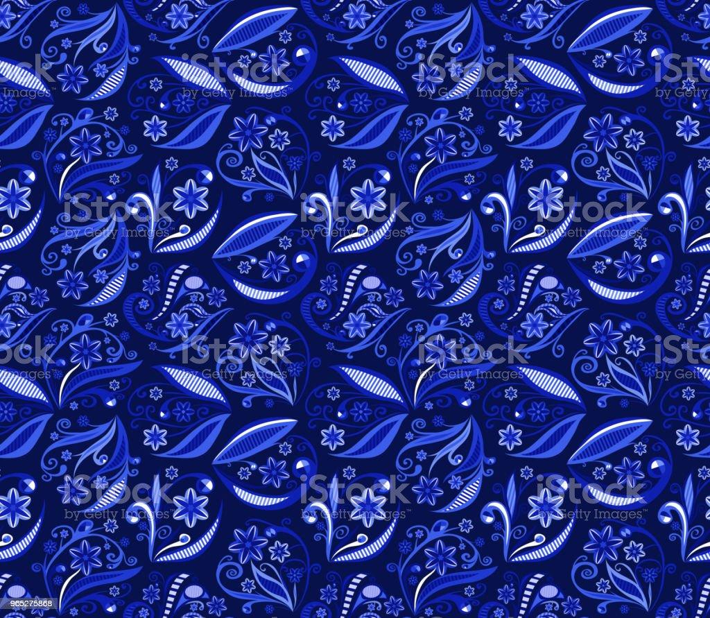 floral background. seamless pattern. blue vector illustration floral background seamless pattern blue vector illustration - stockowe grafiki wektorowe i więcej obrazów abstrakcja royalty-free