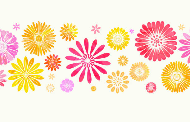 Floral Background Colorful flower background - layered illustration, global color used. spring stock illustrations