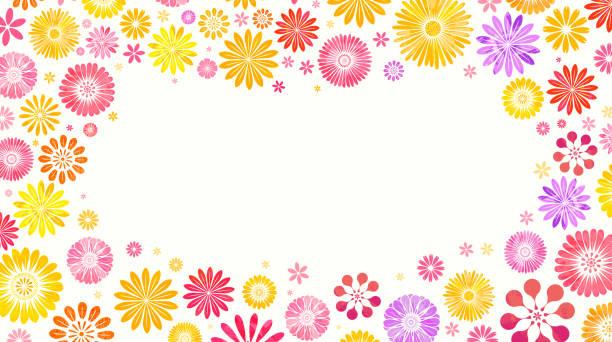 花の背景 - ボタニカル点のイラスト素材/クリップアート素材/マンガ素材/アイコン素材