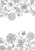 Ornate floral elements for your design with free place for your text. Large jpeg included.
