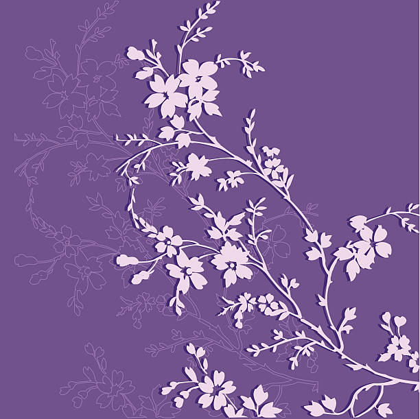 Floral background Fully scalable & editable. AI & EPS files included. lavender color stock illustrations