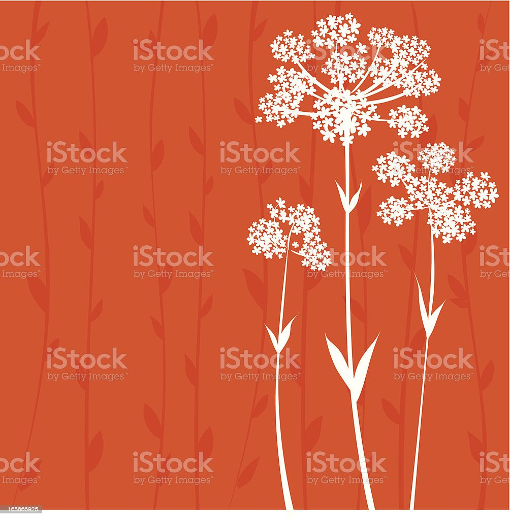 Floral background vector art illustration