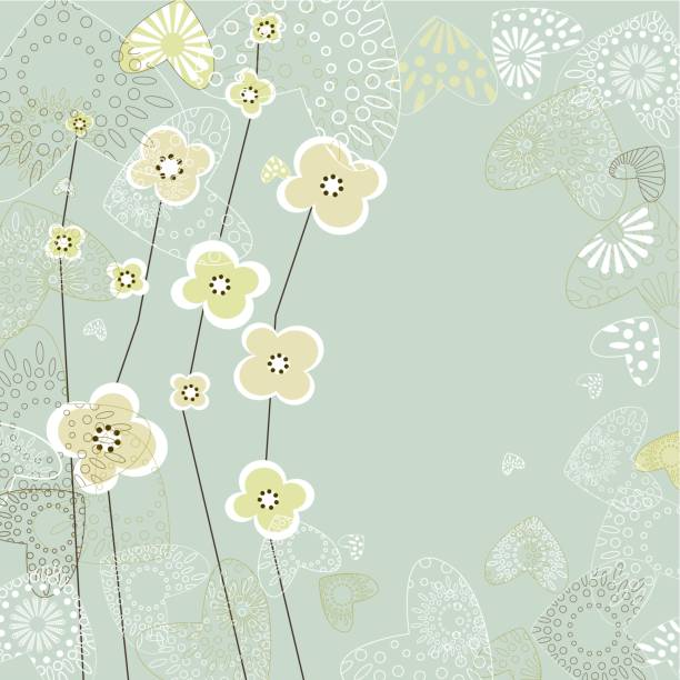 floral background - get well soon stock illustrations, clip art, cartoons, & icons