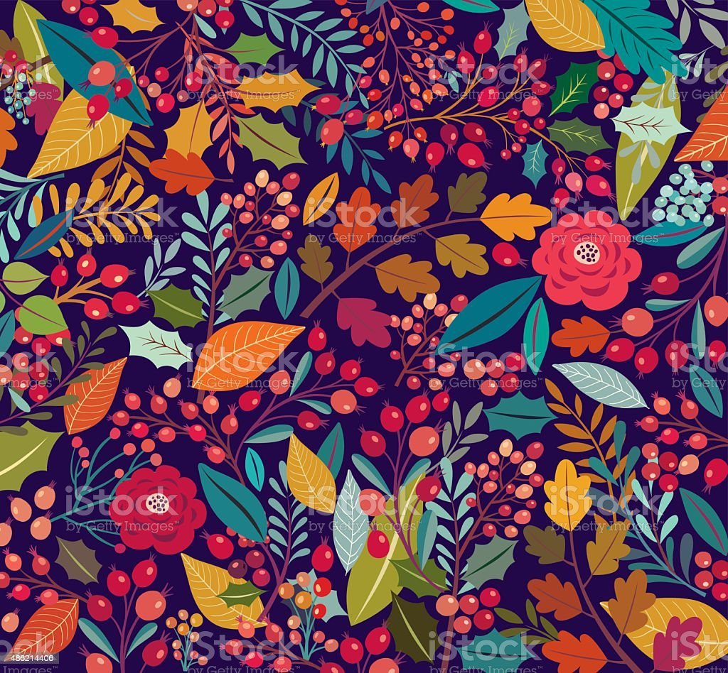 Floral background - Royalty-free 2015 stock vector