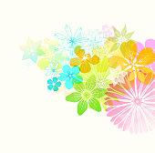 Fresh floral background. Global colors in EPS illustration used.