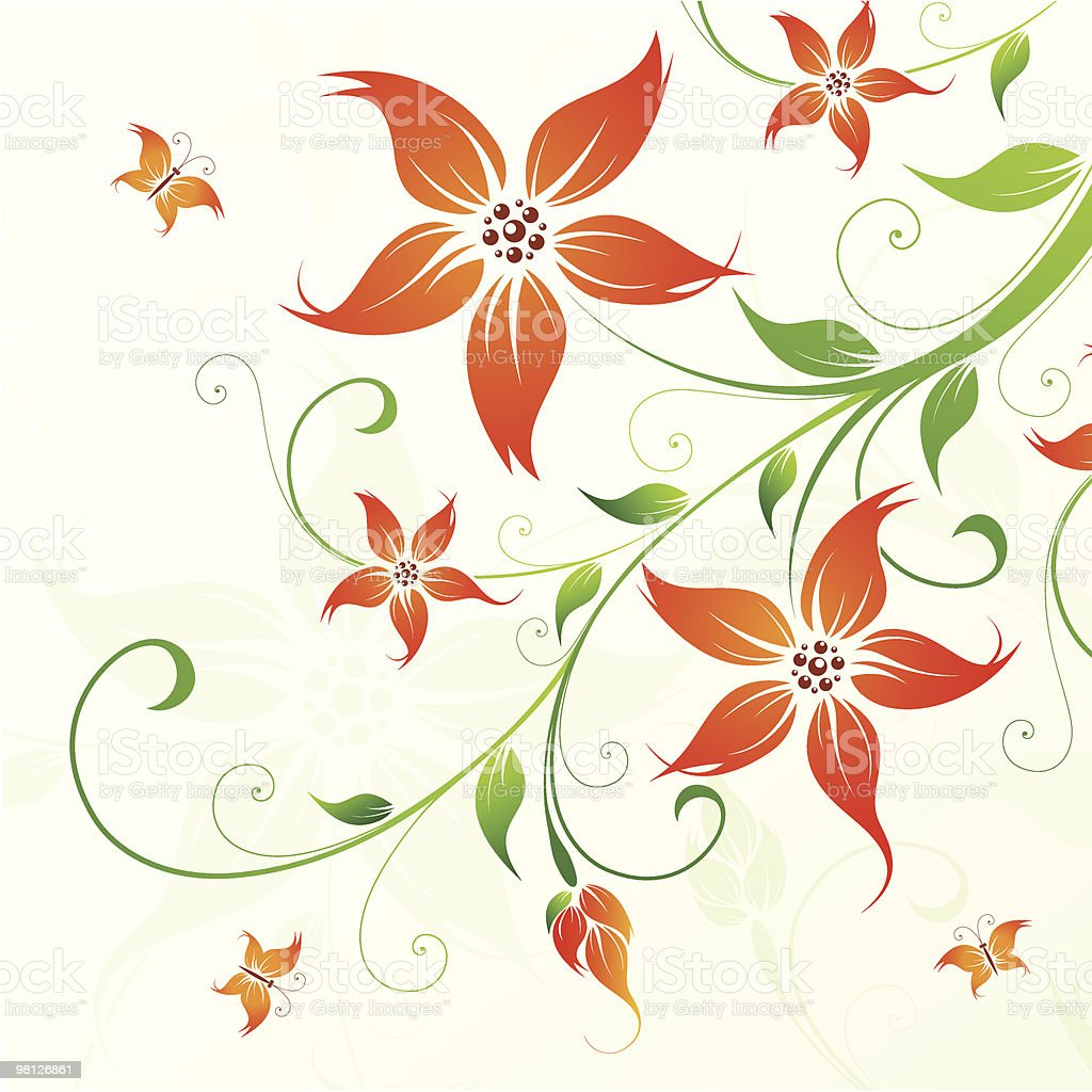 Floral background royalty-free floral background stock vector art & more images of backgrounds