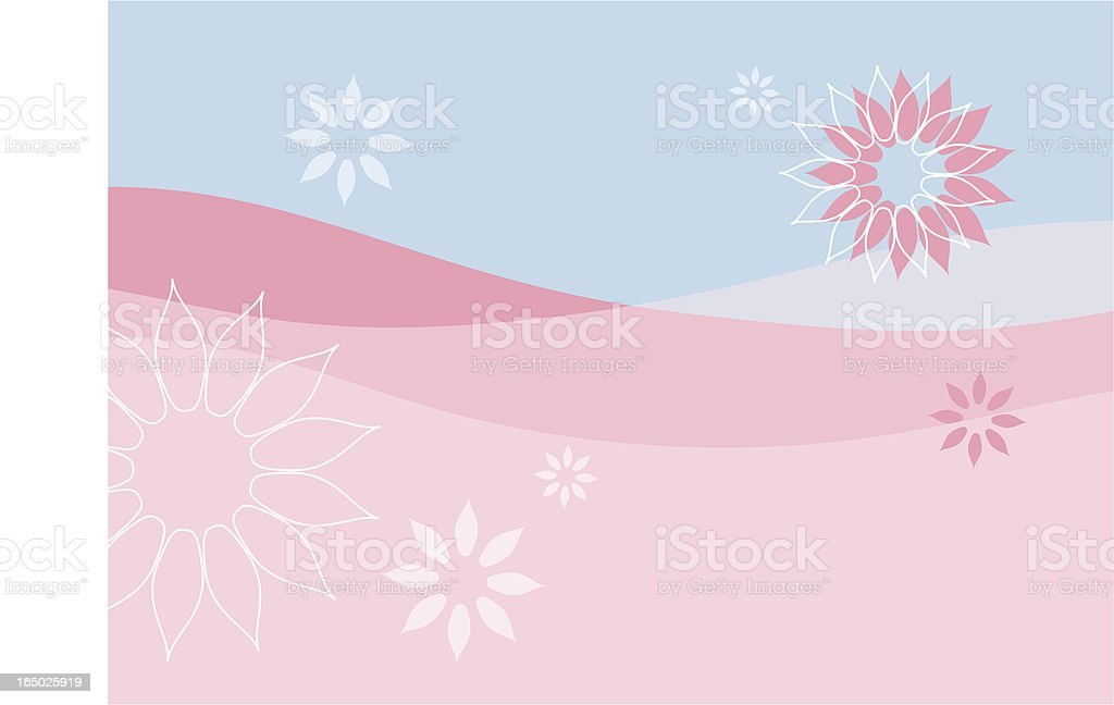 Floral background - vector royalty-free stock vector art