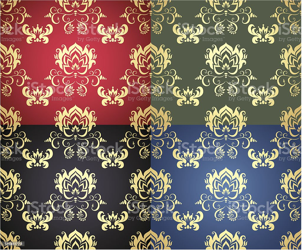 Floral background. Wallpaper. royalty-free floral background wallpaper stock vector art & more images of abstract