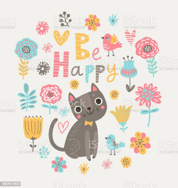 Floral background with cats and birds vector id882912802?b=1&k=6&m=882912802&s=612x612&h=2eg07hwvqtllkgoke5  ltjrg8seecsmqbivwu1dbbk=