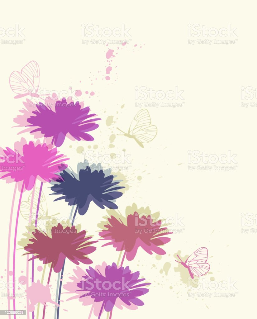 floral background with chamomile royalty-free stock vector art